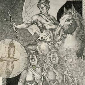 "Ex Libris ""Amazons"" by Hristo Kerin"