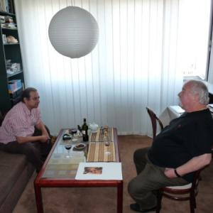 CG and Oldrich Kulhanek at his studio.