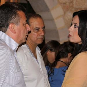 Christos between Mr.Stavros Arnaoutakis and Mrs.Maria Tsompanaki