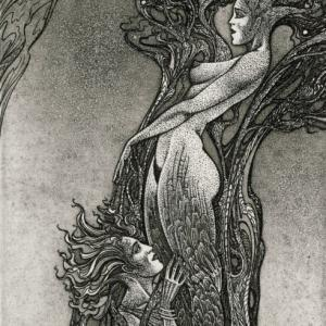 "Ex Libris ""Apollo and Daphne"" by Vasyl Fenchak"