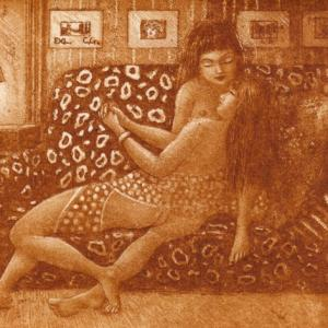"Ex Libris ""Nude Ladies"" by Patricia Nik Dad"