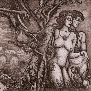 "Ex Libris ""Adam and Eve"" by Ruslan Agirba"