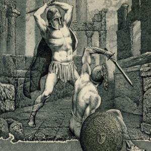 "Ex Libris ""Hector and Achilles"" by Hristo Naidenov"
